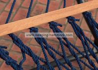 Swing All Weather Garden Rope Hammock For Two Hardwood Bar Included Dark Blue