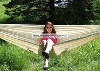 Natural  Weather Resistant Garden Patio Brazilian Fabric Hammock Poly Cotton Portable 370 Cm