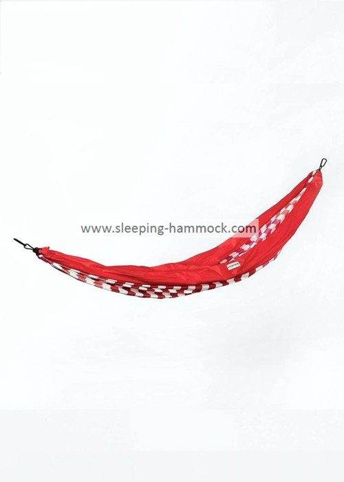Red Print Parachute Nylon Hammock Travel Hammock  , Ultralight Backpacking Hammock