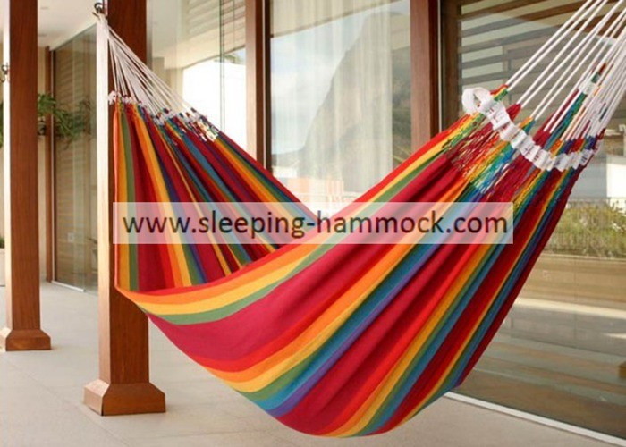 Balcony Backyard Rainbow Brazilian Hammock Bed 260 X 190 Cm Fade Resistant