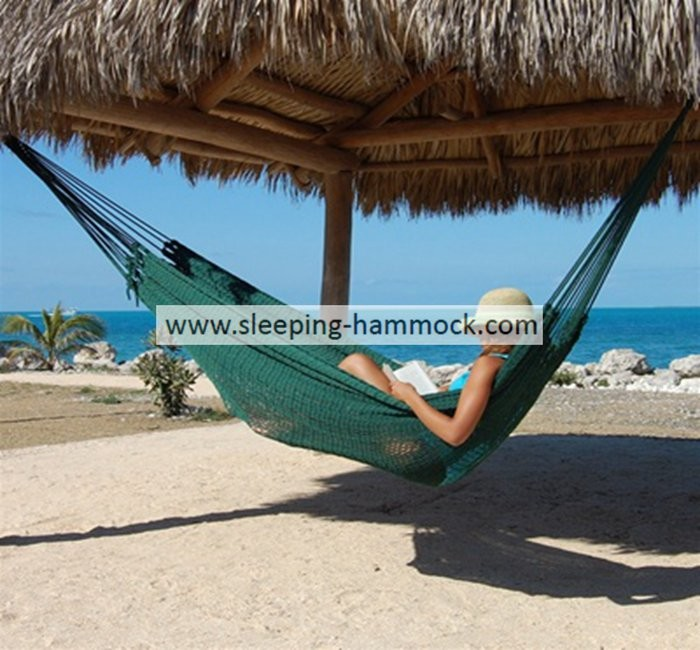 Traditional Family Seaside Hand Woven Mayan Hammock Two Person Fade Resistant
