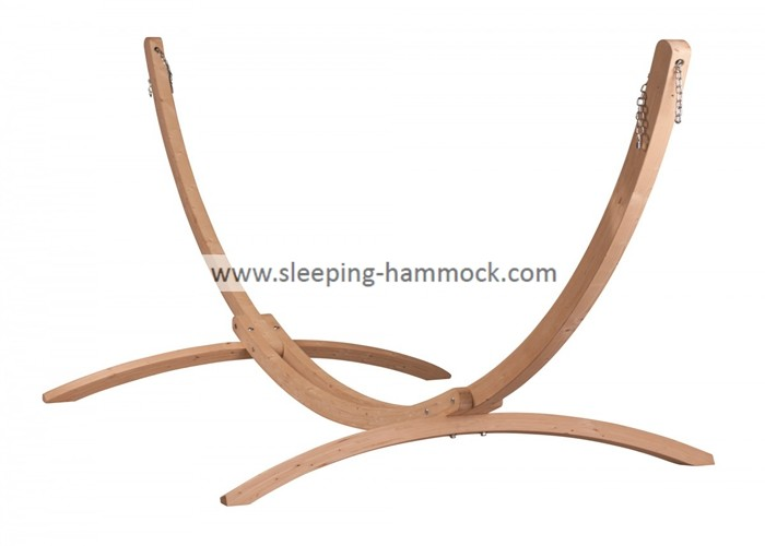 Large Hammock Hanging Accessories ,15 Foot Double Wooden Arc Hammock Stand Solid Russian Pine