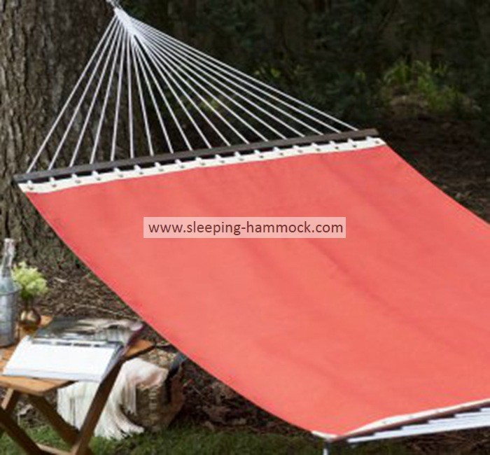 2 Person Durable Outdoor Poolside Hammocks , Bright Red Double Hammock Free Standing