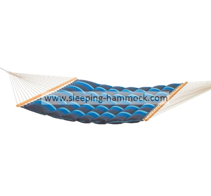 Double Wide Polyester Pillow Top Hammocks , Ocean Wave Free Standing Hammock 450lbs Capacity