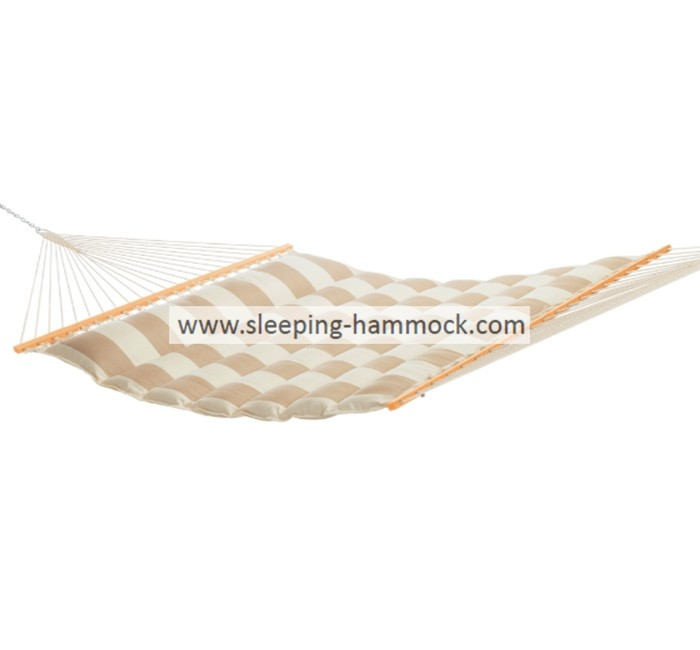 All Weather Soft Polyester Pillow Top Hammocks , Sand Wave Double Hammock With Stand